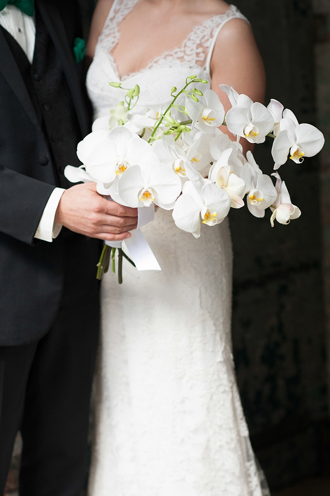 white orchid bouquet | Mikkel Paige Photography | Glamour & Grace