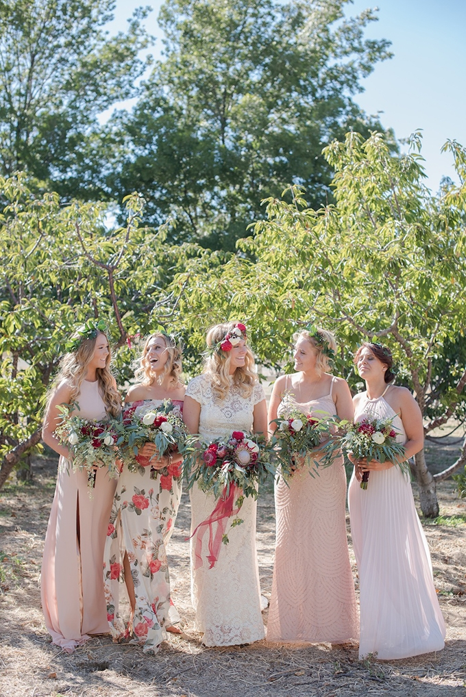 blush and floral bridesmaids | Megan Hayes Photography | Glamour & Grace