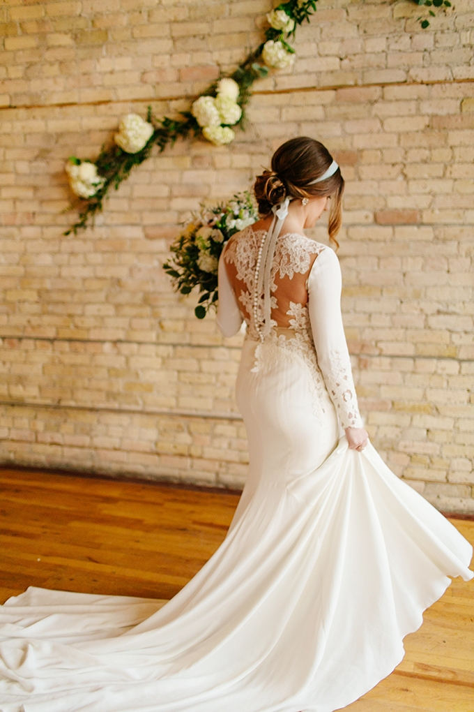 romantic long sleeve gown | Leah Fontaine Photography | Glamour & Grace