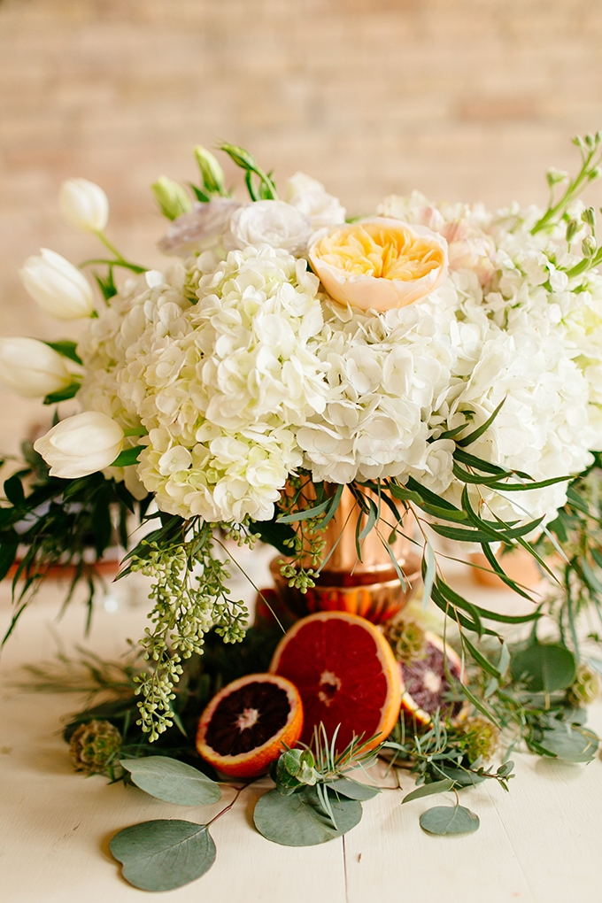 blood orange centerpiece | Leah Fontaine Photography | Glamour & Grace
