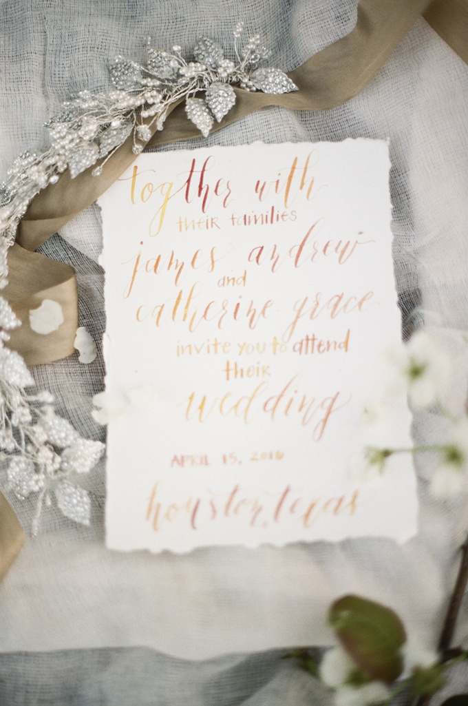 calligraphy invitation | Christine Gosch | Glamour & Grace