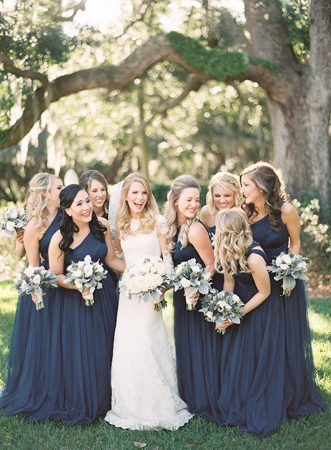 Elegant florida wedding glamour grace for Navy dress for fall wedding