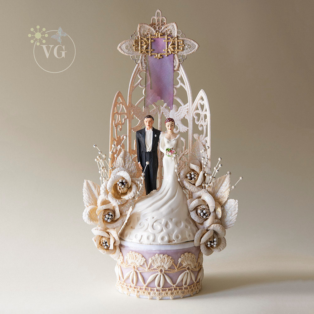 Vintage Cake Toppers For The Vintage Couple Glamour Amp Grace