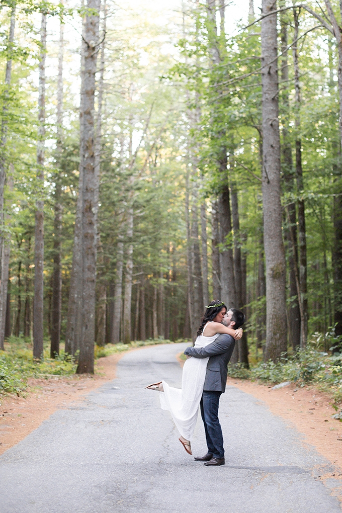 woodland engagement session | KAngell Photography | Glamour & Grace