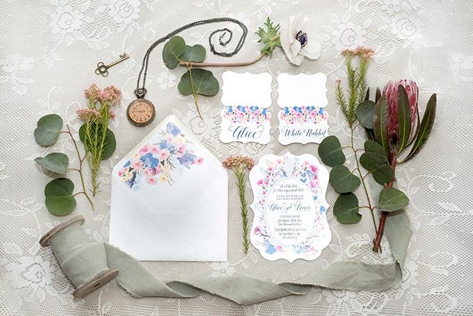 Alice in Wonderland Wedding Inspiration | Glamour & Grace
