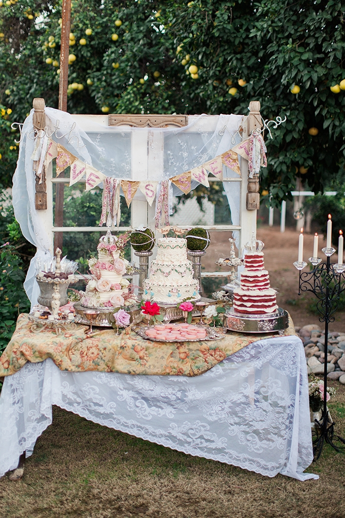 Handmade Vintage Backyard Wedding