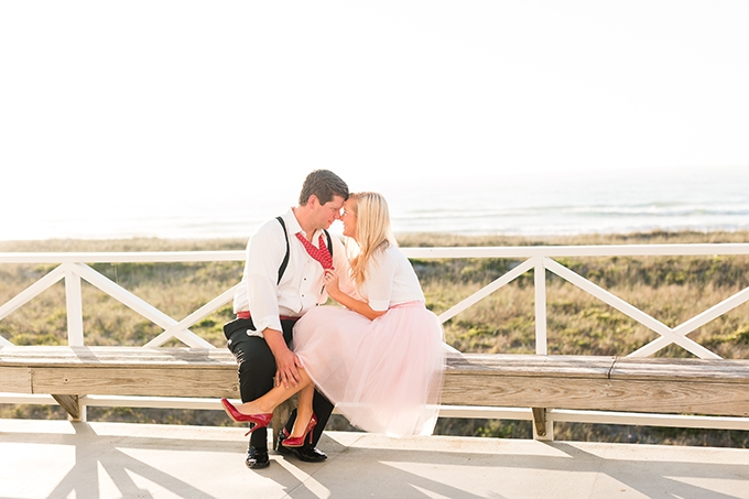 romantic glam beach engagement session | Amy Allen Photography | Glamour & Grace