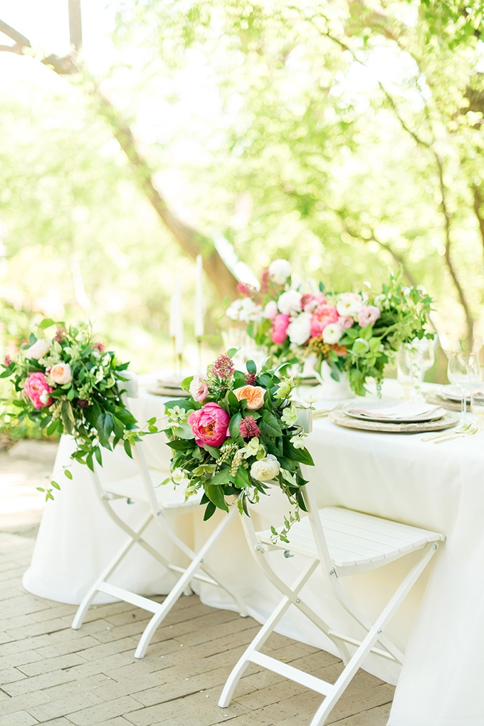floral covered chairs | Lori Lynn Photography | Glamour & Grace