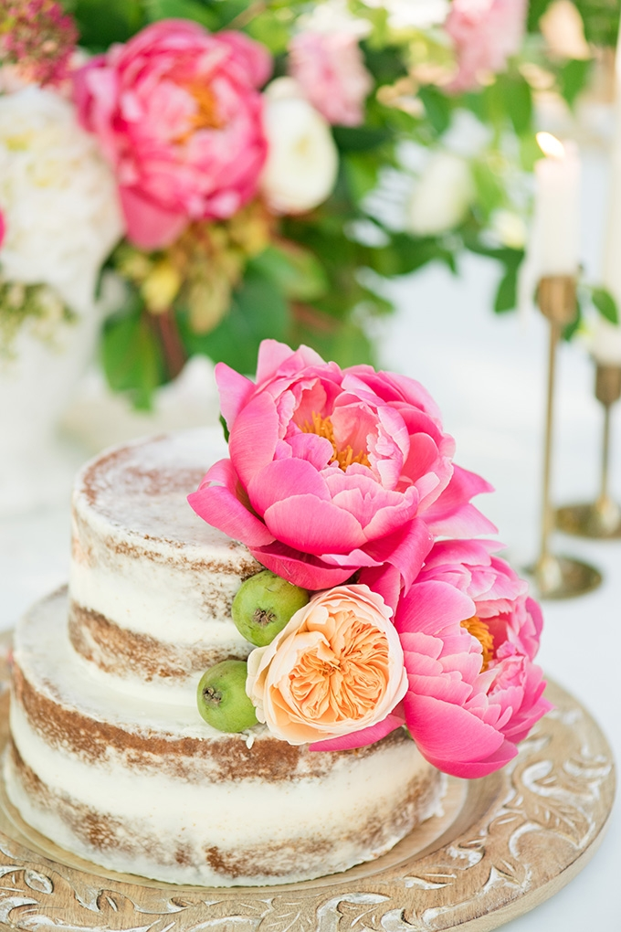 peony covered cake | Lori Lynn Photography | Glamour & Grace