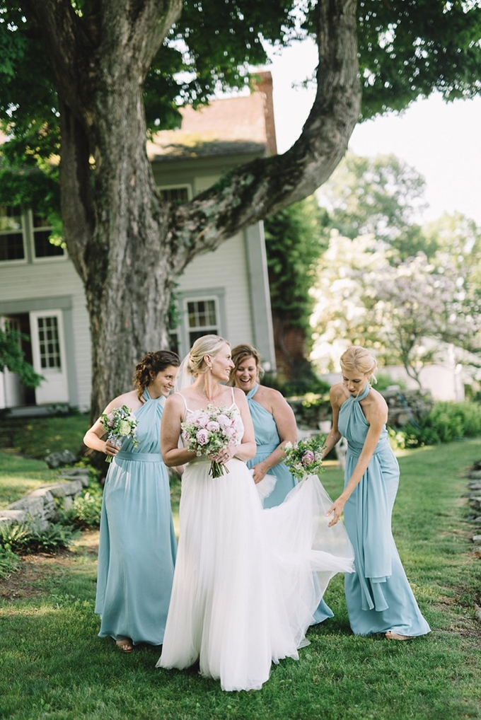 blue bridesmaids | Lindsay Hackney | Glamour & Grace