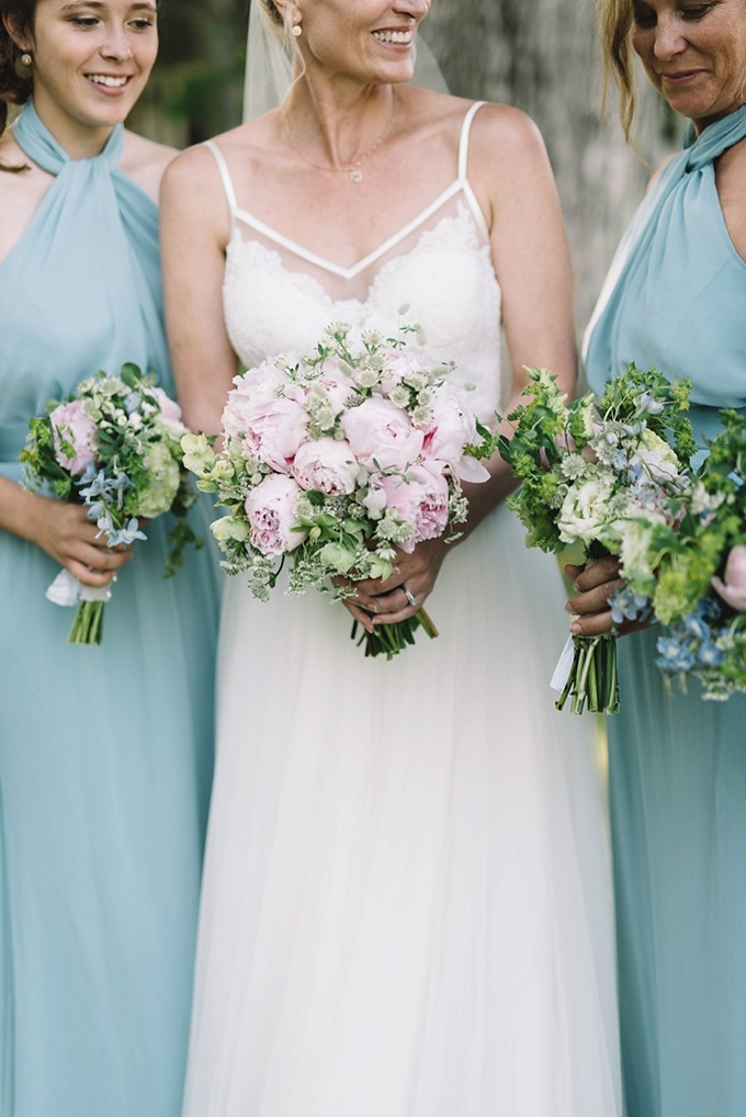 light blue and pink bridesmaids | Lindsay Hackney | Glamour & Grace