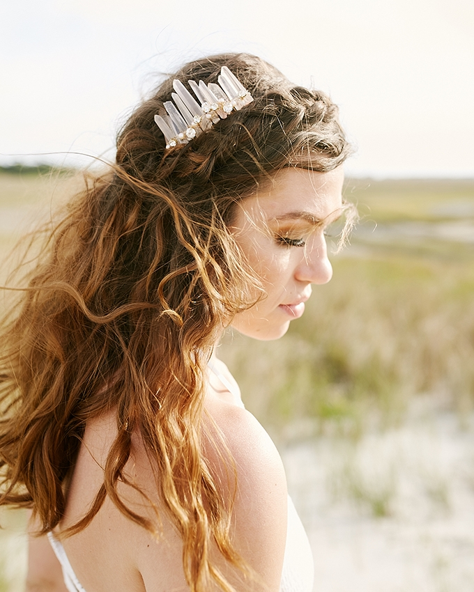 boho crystal headpiece | Resurgens Co. | Glamour & Grace