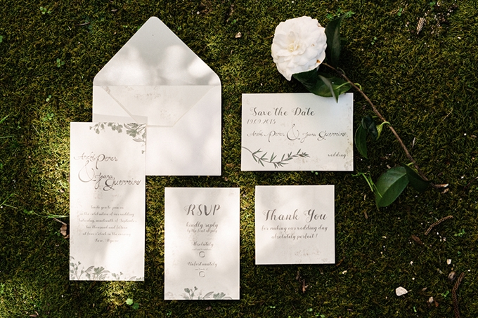 romantic greenery invitation | Passionate Wedding Photography | Glamour & Grace