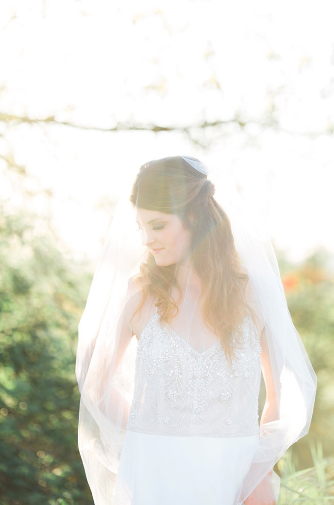 romantic farm bridal portraits | Something Minted Photography | Glamour & Grace