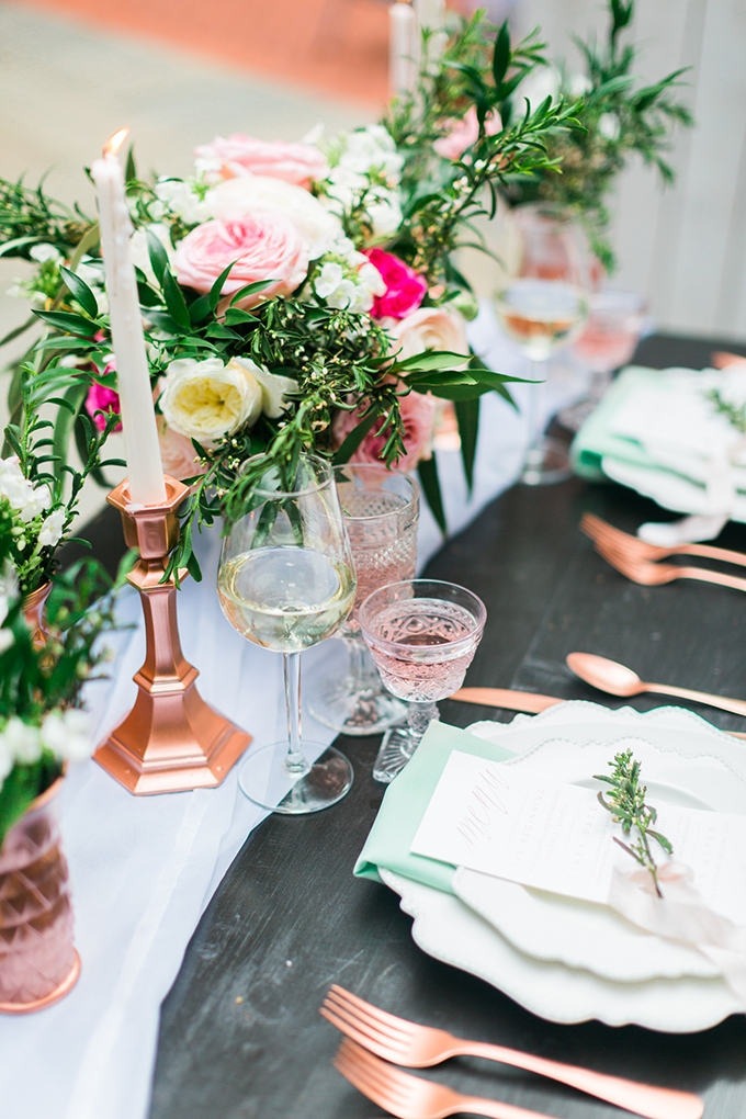Rose And Mint Wedding Inspiration Glamour Amp Grace