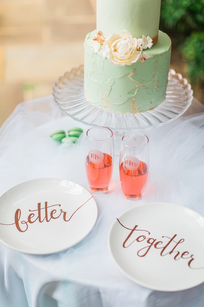 rose and mint wedding inspiration | Nikki Schell | Glamour & Grace
