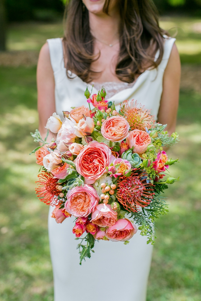 orange bouquet | Anna Marks Photography | Glamour & Grace