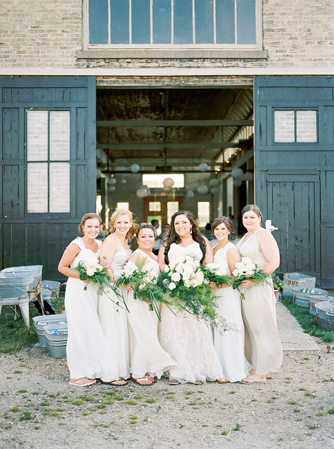 neutral bridesmaids | Karen Ann Photography | Glamour & Grace