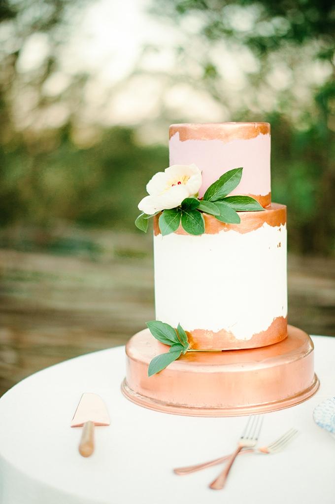 copper cake   April Bennett Photography   Glamour & Grace