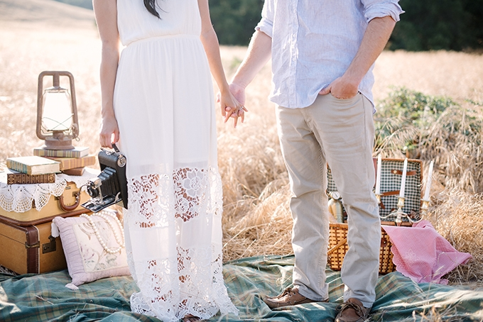 playful vintage engagement session | Walking Eagle Photography | Glamour & Grace