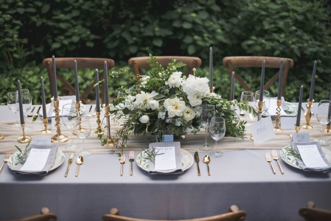 romantic gray watercolor wedding inspiration | E Schmidt Photography | Glamour & Grace