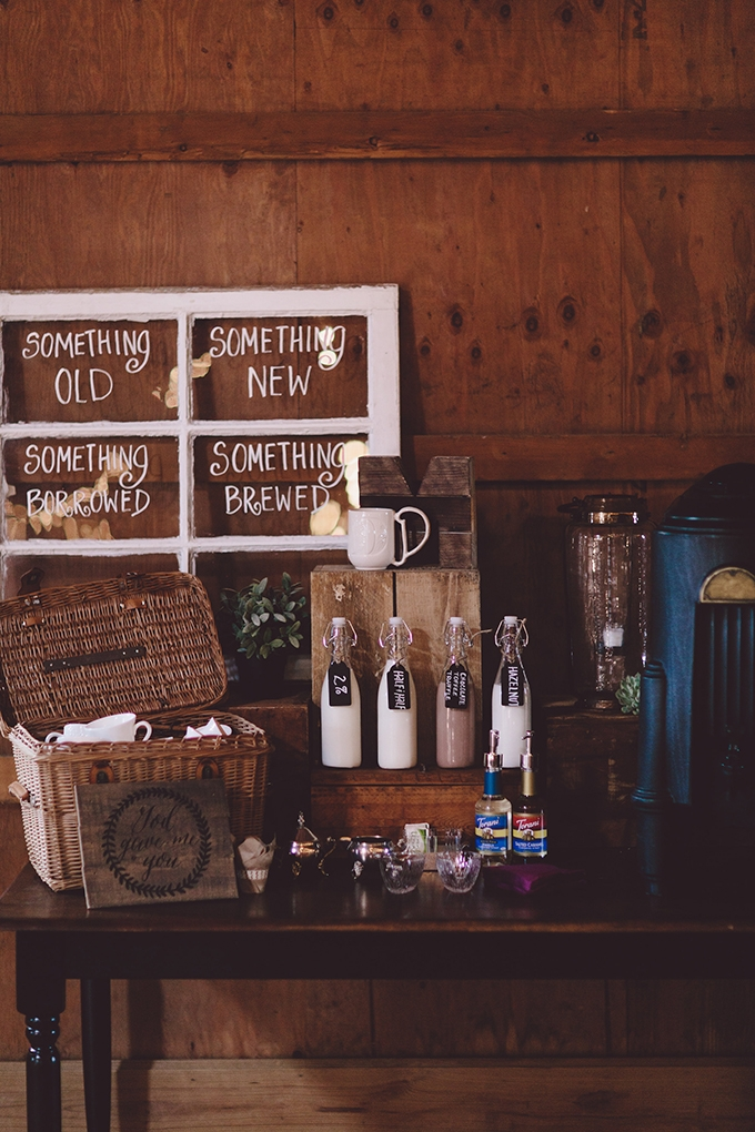 wedding coffee bar | Alyssa Shrock Photography | Glamour & Grace