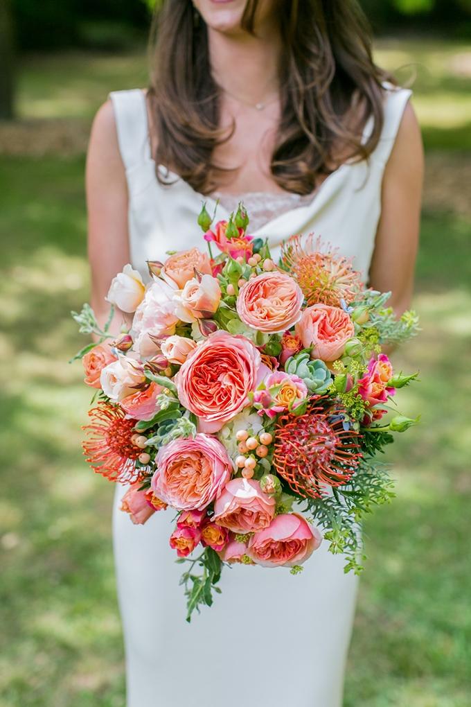 orange bouquet | Anna Marks Photography on Glamour & Grace