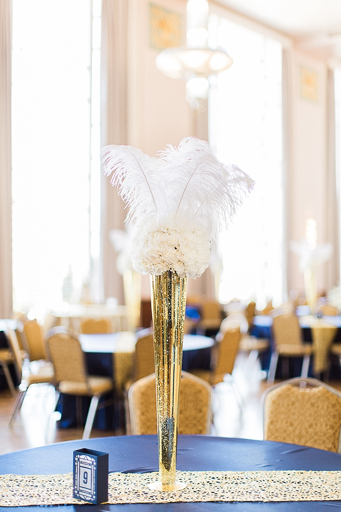 art deco blue and gold wedding   Fleckography Co.   Glamour & Grace