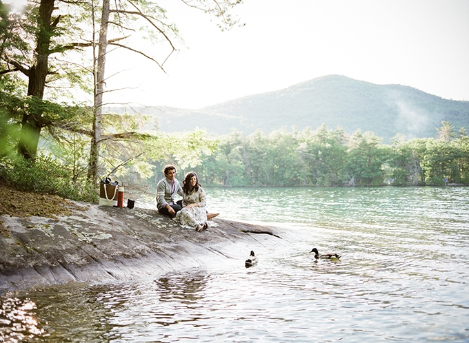 romantic lakeside engagement session | Koby Brown | Glamour & Grace