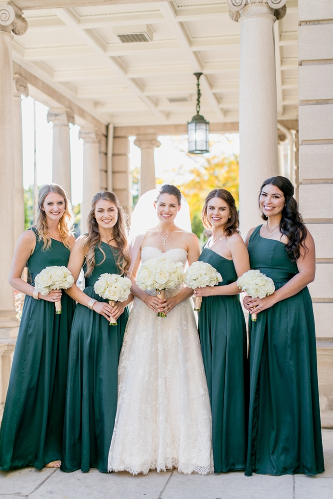emerald bridesmaids | Lovisa Photo | Glamour & Grace