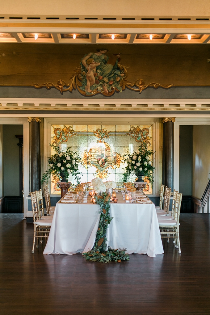 Romantic Greenery and Gold Wedding | Glamour & Grace