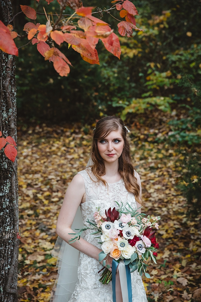 vintage fall barn wedding | Parker Young | Glamour & Grace-06