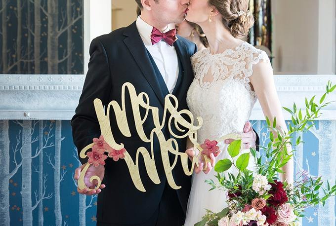 Art Nouveau wedding inspiration | Peterson Design & Photography | Glamour & Grace