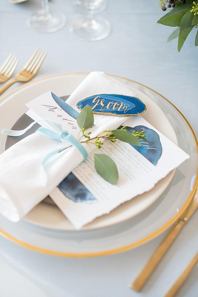 elegant blue and white wedding inspiration   Mikkel Paige Photography   Glamour & Grace-16