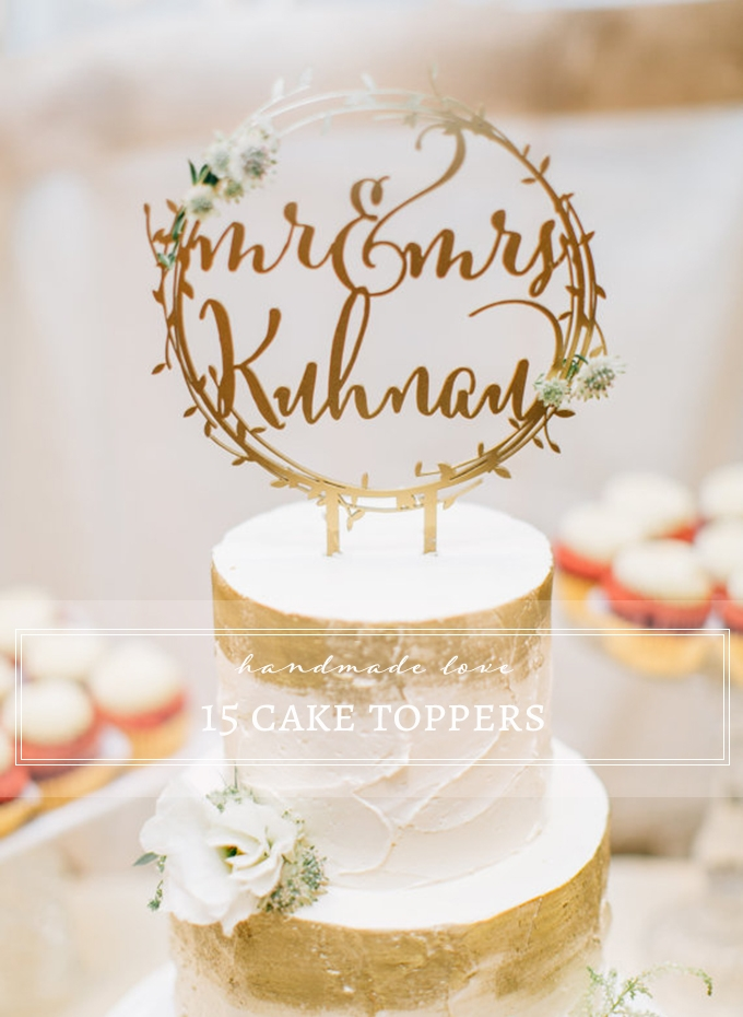 15 handmade cake toppers from Etsy