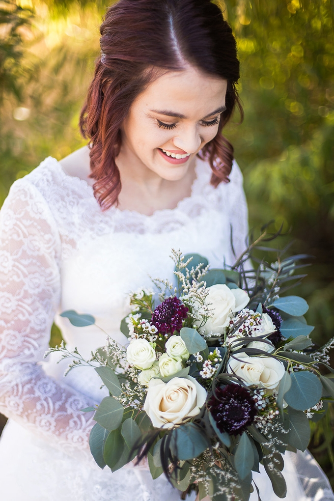 heirloom wedding dress bridal portraits | Archer Inspired Photography | Glamour & Grace-07