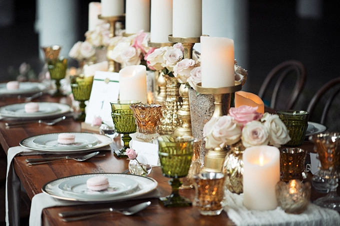 romantic French industrial wedding inspiration | Black Box Photography | Glamour & Grace