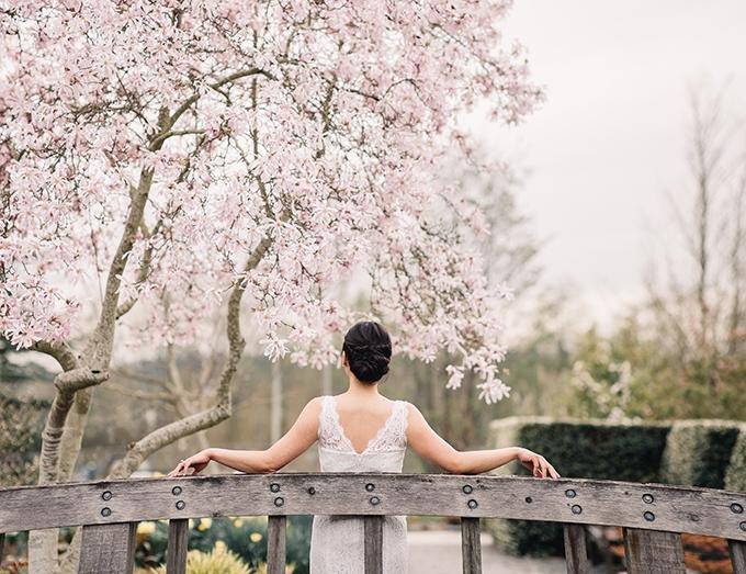 garden bridal portraits   Tetiana Photography   Glamour & Grace