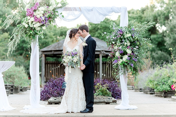 purple Texas garden wedding | Arden Prucha Photography | Glamour & Grace