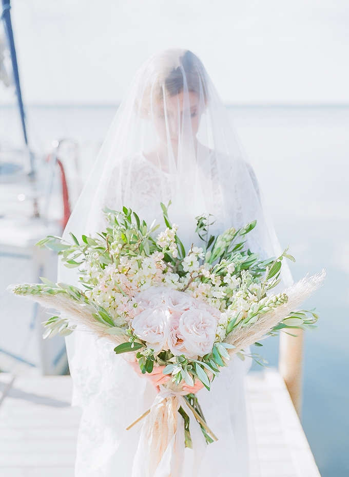 romantic seaside bridal portraits   Diana Frohmuller Photography   Glamour & Grace