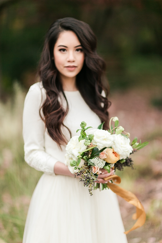 intimate fall garden elopement | Anny Photography | Glamour & Grace
