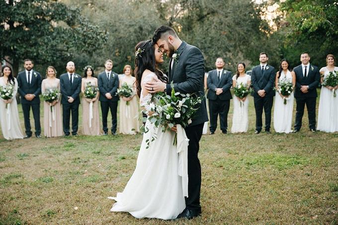 romantic greenery filled wedding | Jake & Katie | Glamour & Grace