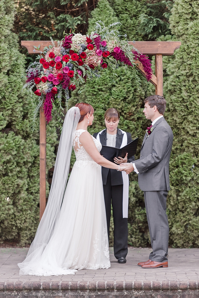 berry hued #fallwedding | Amy Allen Photography | Glamour & Grace