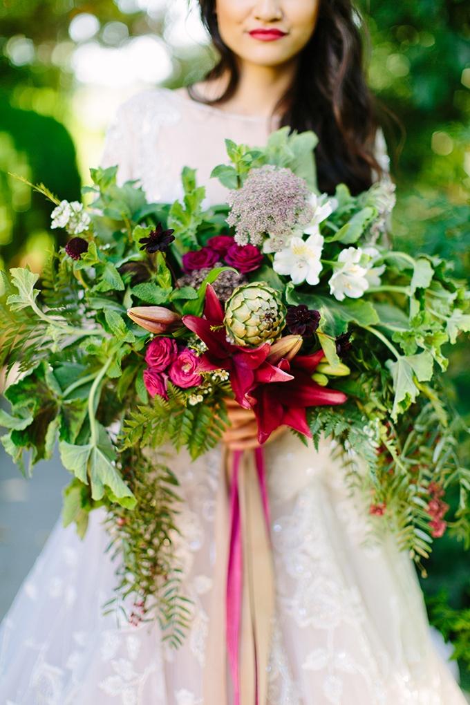 jewel tone #bouquet | Megan Clouse Photography | Glamour & Grace