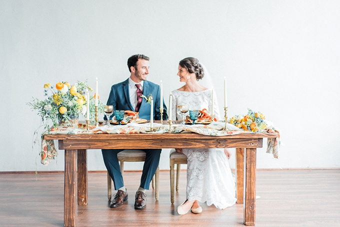 colorful Mediterranean inspired wedding | Heather K Cook Photography | Glamour & Grace