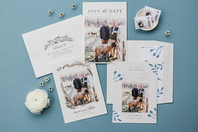 rustic save the dates by Minted | Glamour & Grace