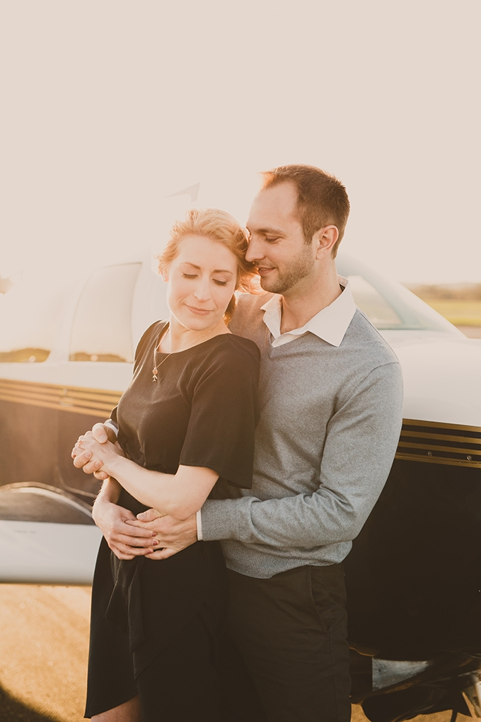 vintage airplane engagement session   Pattengale Photography   Glamour & Grace
