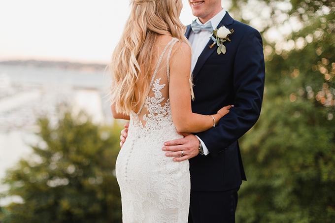 blue coastal DIY wedding | Courtney Bowlden Photography | Glamour & Grace