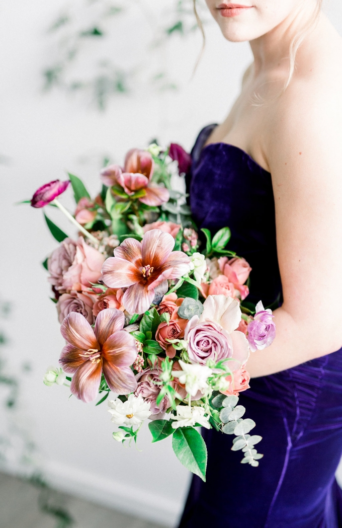 romantic purple and pink wedding ideas | RTFaith Photography | Glamour & Grace