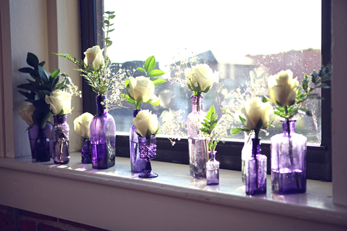 A Handmade Vintage Purple Wedding Glamour Amp Grace
